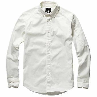 G-Star Raw Stalt White Cotton Twill Shirt D15269