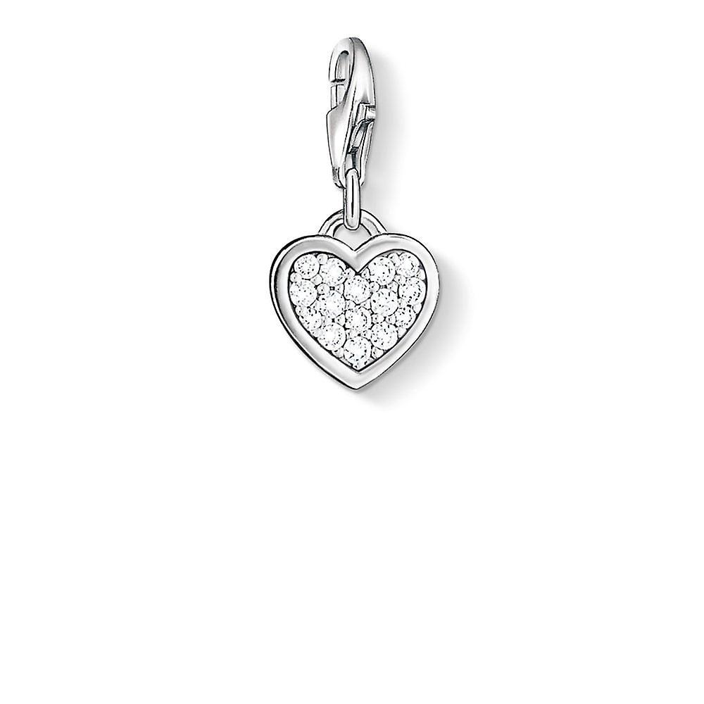 Thomas Sabo Zirconia Heart Charm 0967