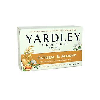 Yardley Oatmeal & Almond Natural Moisturising Bath Bar 120g to Soothe Dry Skin