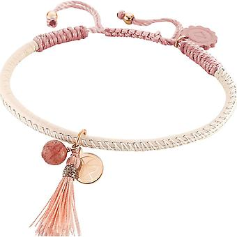 Zeades Sbc01008 bracelet - Bracelet Rose Gold Leather tassel woman