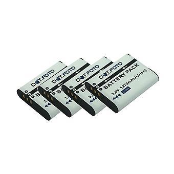 4 x Dot.Foto DB-110 PREMIUM Replacement Rechargeable Camera Battery for Ricoh - 3.6v / 1270mAh - 2 Year Warranty [Voir Description de compatibilité]