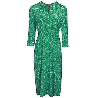 Primrose Park Tiffany Green Tiger Print Silk Blend Long Sleeve Midi Robe