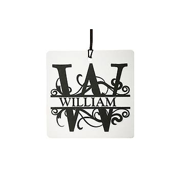 W - Custom Monogram Car Air Freshener