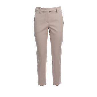 Brunello Cucinelli Ma126p7258c7496 Women's Beige Cotton Pants