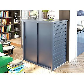 Metalen tuinhuis/Metalen kast met schuifdeur 1,25x0,8x1,31m, ProShed®, Antraciet