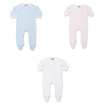 Larkwood Baby Unisex Contrast Long Sleeve Sleep Suit