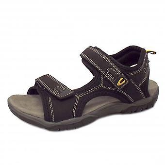 Camel Active Freddi Men's Velcro Sandal In Black
