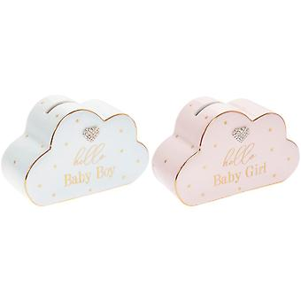 Lesser & Pavey Hello Baby Cloud Money Bank