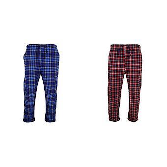 Cargo Bay mens tartan lounge broek/pyjama