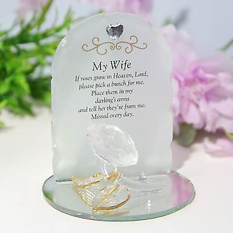 Widdop & Co. Tankar på dig Rose Plaque - Fru
