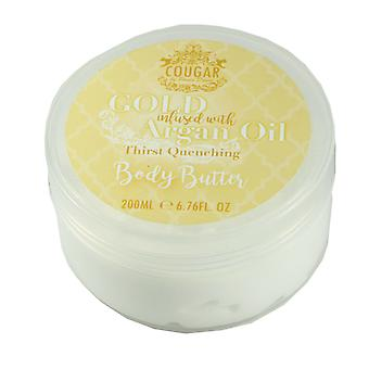 Cougar Gold Infused Argan Oil Body Butter 200ml