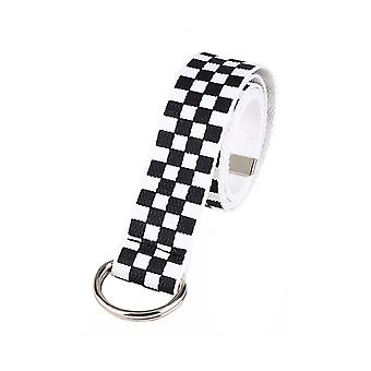 Attitude Clothing Checkerboard Canvas Belt