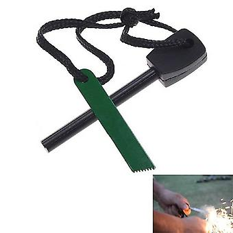 Ignition steel for Outdoor life & Camping, hunting, flint military green