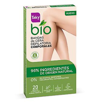 Body Hair Removal Strips Bio Natural Taky (20 uds)