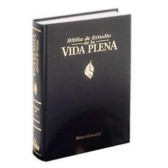 RVR 1960 Biblia De Estudio Vida Plena - Piel Especial - Negro by Zond