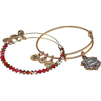 Alex And Ani Harry Potter - Gryffindor Motto Set of 2 - Two Tone - RG Bracelet - AS18HP46TTRG