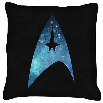 Star Trek Galaxy Silhouette Star Fleet Logo Cushion