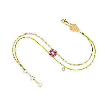 Bracelet Duchess Couture Full Emerald Stone and 18K Gold - Yellow Gold, NeonYellow