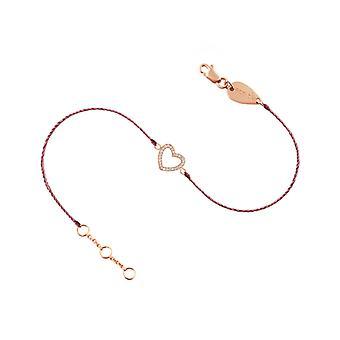 Bracelete Coração 18K Ouro e Diamantes, em Thread