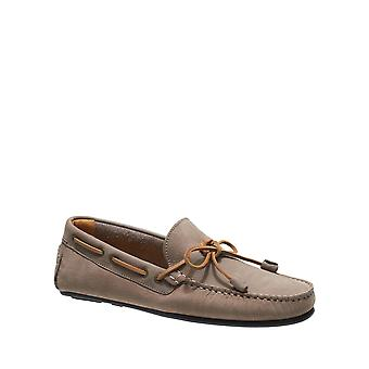 Sebago Men's Tirso Tie Leather Taupe Loafers