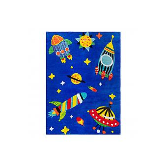 Rug PLAY Cosmos rockets planet G3420-1 blue
