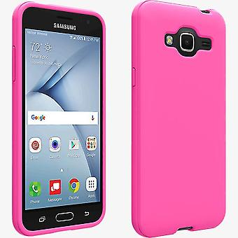 Verizon Matte Silicone Case for Samsung Galaxy J3 V - Pink