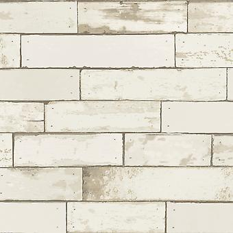 Berkeley Brick Wallpaper Cream Holden 98460