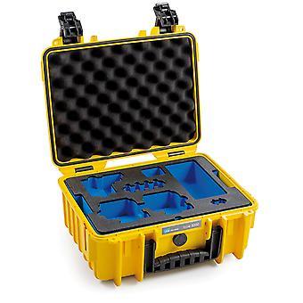 B&W GoPro Case Typ 3000 für GoPro Hero 8, Gelb Mit Schaumstoffeinsatz