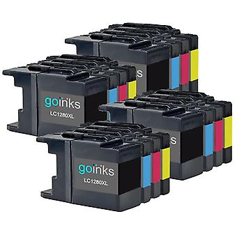 4 Tintenpatronen sets ersetzen Brother LC1280XL Compatible/non-OEM by Go Inks (16 Tinten)