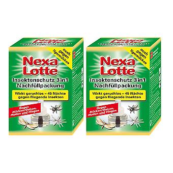 Sparset: 2 x NEXA LOTTE® insect plug 3in1, refill pack