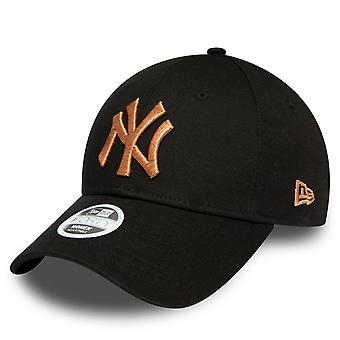 New Era 9Forty Women's Cap - METALLIC New York Yankees Black