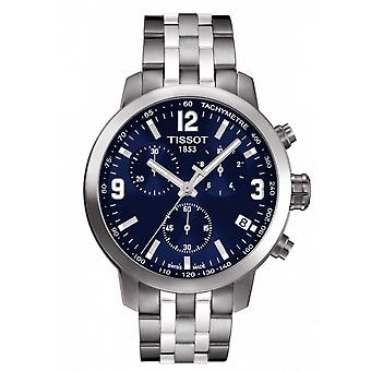Tissot Watches T055.417.11.047.00 Prc200 Chronograph Silver And Blue Stainless Steel Men's Watch