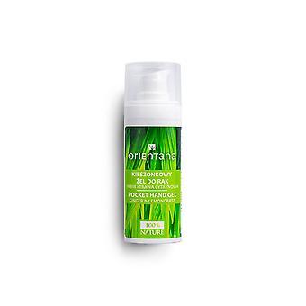 Natutal Pocket Hand Gel Antibacterial Lemongrass & Ginger, 30Ml