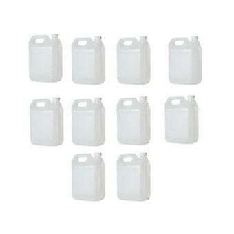 10X 5L Hdpe Clear Jerrycan Bottle Plastic Wadded Tamper Evident Cap