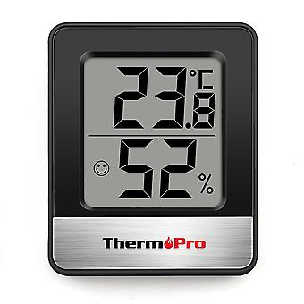 Mini Weather Station Black White - Room Thermometer Hygrometer|Temperature Gauge