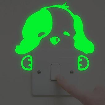 Lysende Cartoon Sticker - Home Decor Glow Sticker