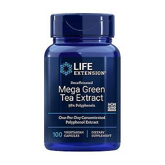 ميجا الشاي الأخضر استخراج Decaff 100 كبسولات الخضار