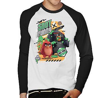 Angry Birds Snot Funny Men's Baseball camiseta de manga larga