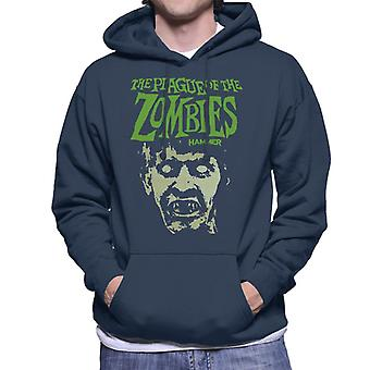 Hammer The Plague Of The Zombies Face Poster Men's Hooded Sweatshirt