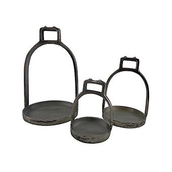 Deco4yourhome Stirrup Set of 3 Old Metal