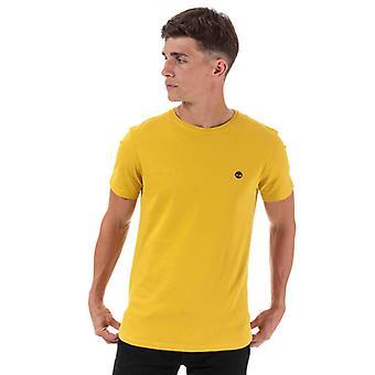 Män & apos; Timberland TFO Logo Slim T-shirt i gult