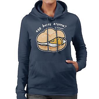 Gudetama Egg Butty Anyone Women's Hooded Sweatshirt