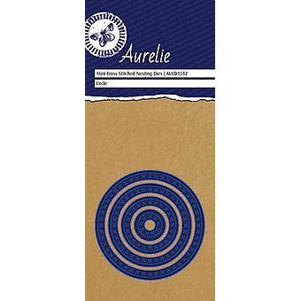 Aurelie Cross-Stitch Circle Mini Nesting Die