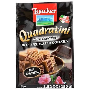 Quadratini Bite Size Wafer Cookies Dark Chocolate