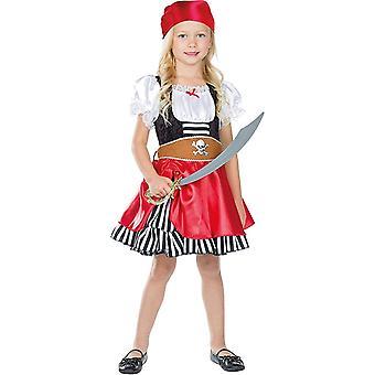 Piratenmädchen Grace Kinder Pirat Kostüm Piratin Seeräuber 3-teilig Kleid mit Kopftuch