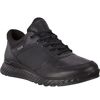 Ecco Womens Exostride Low Gore-Tex Leather Walking And Shoes Trainers - Preto