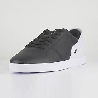Black & white men's triesti smart casual trainers