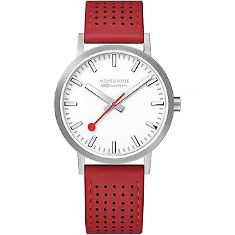 Mondaine Classic Red Leather Strap Ladies' Watch A660.30360.16SBC 40mm