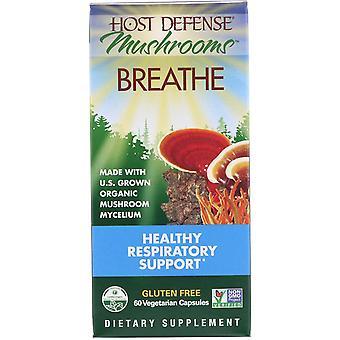 Fungi Perfecti, Mushrooms, Breathe, Healthy Respiratory Support, 60 Vegetarian C