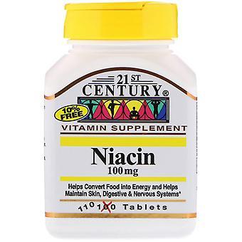 21e siècle, Niacine, 100 mg, 110 comprimés